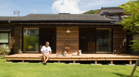 家造りは自分の手で葉山への移住を決意したのは波乗りと愛犬のため