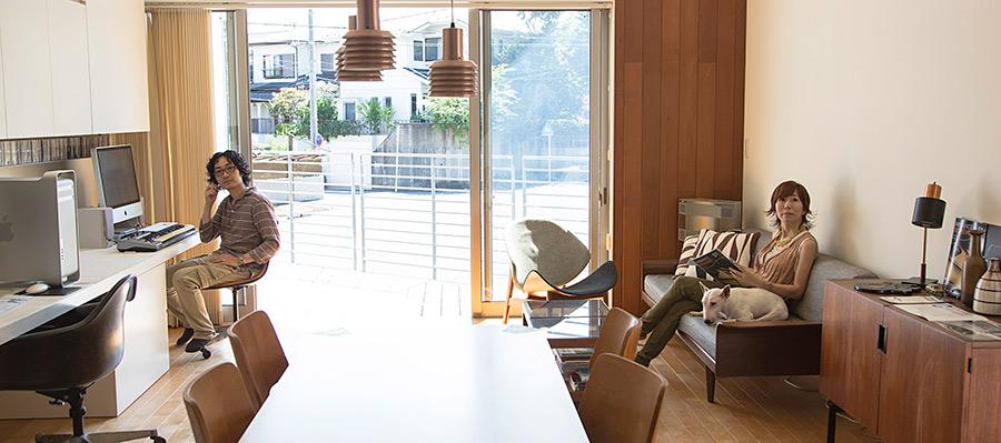 暮らしのデザインを楽しむライフスタイルが充実人が集まる、風通しのいい家