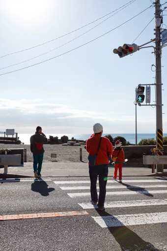 自宅から徒歩4分で稲村ヶ崎に。恵まれた好立地が羨ましい。