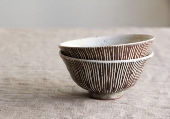 《縦縞・横縞の茶碗》