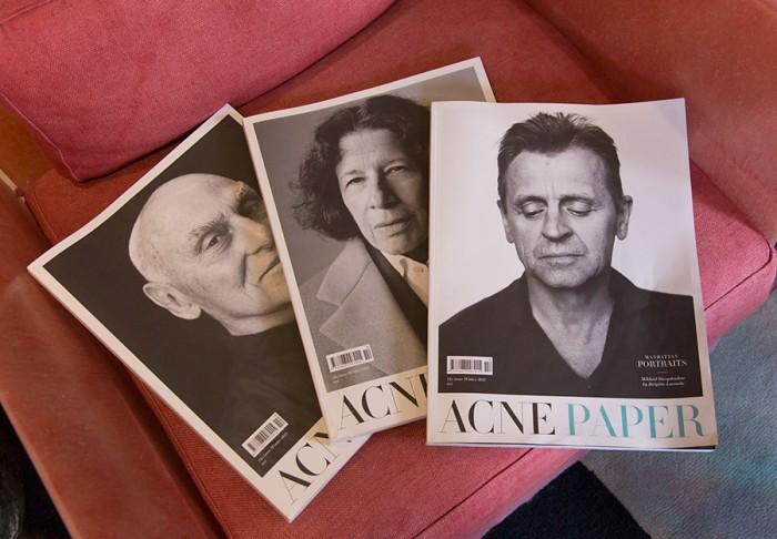 表紙は毎号3種類用意されている。現在ACNE STDIOS AOYAMAで扱いがあるのは、issue10、issue11、issue13、issue14。ACNE STUDIOSのウェブ(link: http://shop.acnestudios.com/shop/women/acne-paper-1.html)でも購入可。