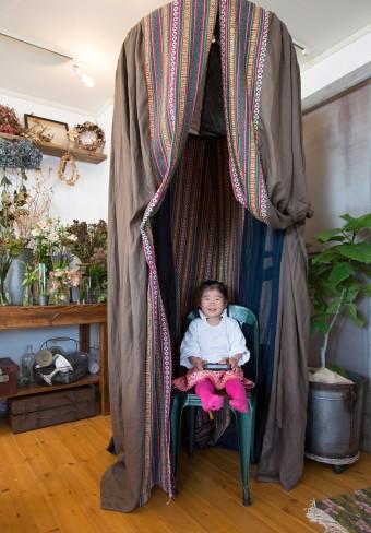 H.P.DECOのイベント「花サーカス」で使ったテント。子供たちの遊び場に。