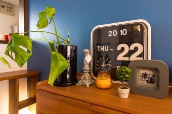 時計&カレンダーは気に入って衝動買い。動かなくなってもインテリアの一部。