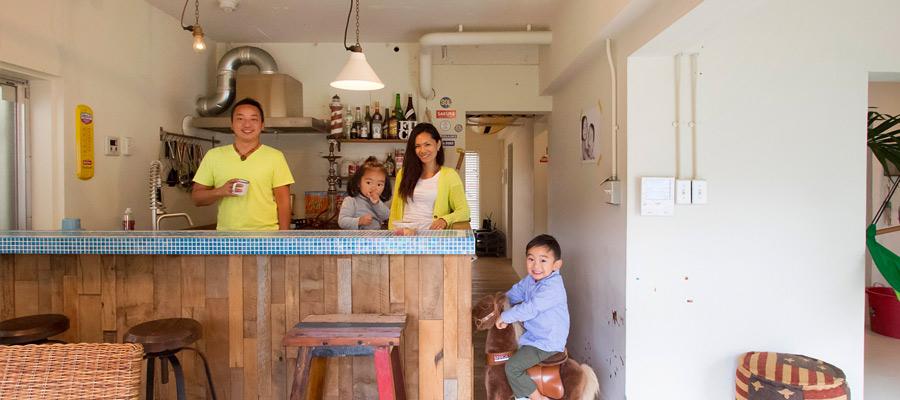 海辺の暮らしを満喫 海辺の古い一軒家を 自分らしく再生。