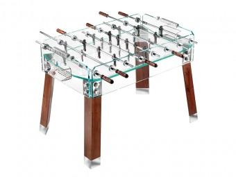 「Calcio Balilla Contropiede」クリスタルガラスとアルミニウム、脚はウッド。