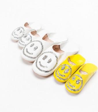 バブーシュ(キッズ) 各¥2,625 バブーシュ(ウィメンズ) ¥3,990 Fatima Morocco/ユナイテッドアローズ 原宿本店 ウィメンズ館