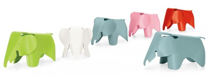 Eames Elephant(ダークライム・ホワイト・アイスグレー・ライトピンク・クラシックレッド) W412 D785 H417mm 耐荷重約70kg 各¥25,200 Vitra/hhstyle.com 青山本店