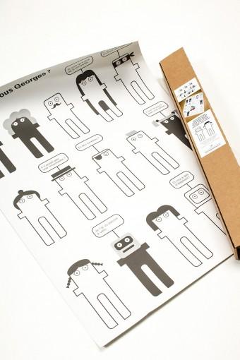 ぬり絵ポスター(カラーペン付き) ¥1,890 georges magazine/バザー・エ・ガルド‐モンジェ