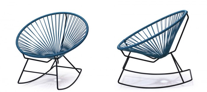 Acapulco Rocking Chair(ブルー) W765 D750 H730 SH380mm ¥42,000 CIBONE Aoyama