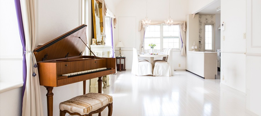 フランス流、布使いで完成優雅さを極めたヨーロッパ風邸宅