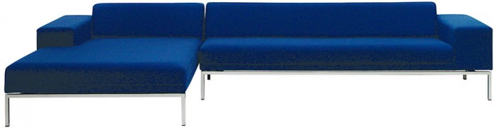 Hockney Sofa System 左 W1100 D1500 H610 SH380mm ¥218,400〜 右 W2000 D750 H610 SH380mm ¥252,000〜 ともにE&Y/CIBONE Aoyama