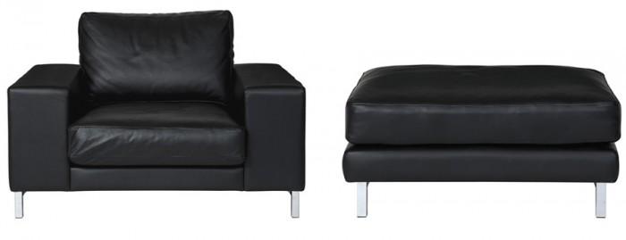 Robele Sofa W980 D850 H680 SH330mm レザー¥241,500〜 ファブリック¥204,750〜 Robele Sofa ottoman W580 D700 H330mm レザー¥94,500〜 ファブリック¥73,500〜 以上CIBONE COLLECTION/CIBONE Aoyama