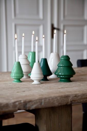 陶器の温かみも感じる緑のカラーバリエーションも今シーズンから。