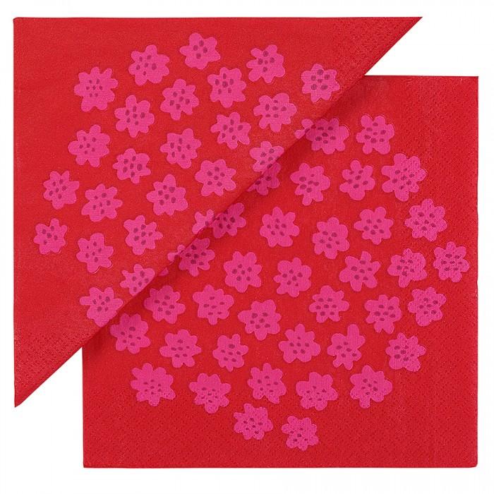 ホットと暖かくなるような2013秋冬の最新版、紙ナプキンのパターン「PUKETT」 Marimekko®