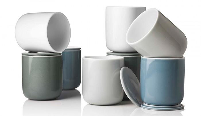 「New Norm」アーバン・ロマンテックなセラミックのシリーズ。蓋のついたカップはお茶を入れたり、調味料入れたりと使いこなせる