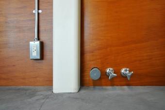 用途変更の可能性を考慮して2階にも水道が引かれている。