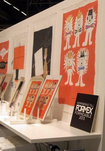 オレ・エクセル(1918-2007)のデザインによるティータオルは「フォーメックス」のグッドデザインにも選ばれた。