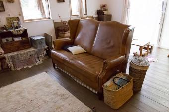 夫がひと目ぼれしたソファー。オールドフレンドで購入。