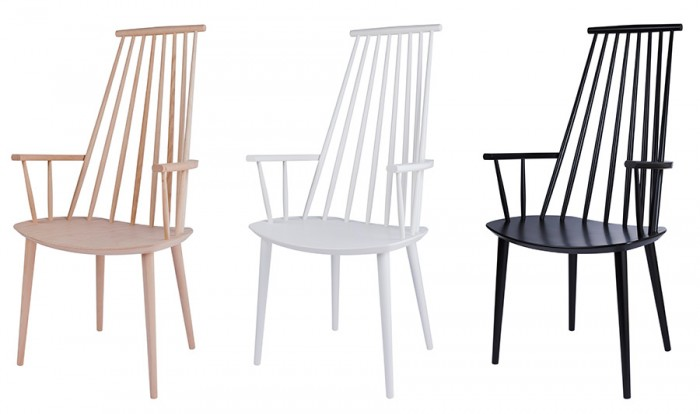 J110 Chair W530 D600 H1060 SH445mm (ナチュラル) ¥35,700 (ホワイト・ブラック) 各¥37,800 HAY/haluta kanda