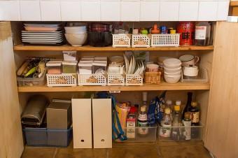 普段使いのものが取り出しやすいように、収納はすっきりと。