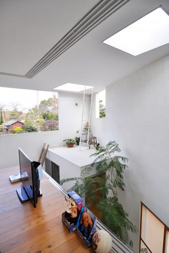 お風呂のあるコーナー部分からは屋上に出ることができる。