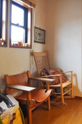 海君、洋君が生まれたときに1つずつ買った椅子は、宝物。