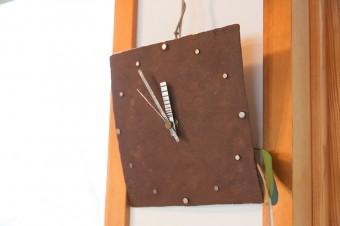 鉄の作家さんの作品。素材感を活かしたインテリア。