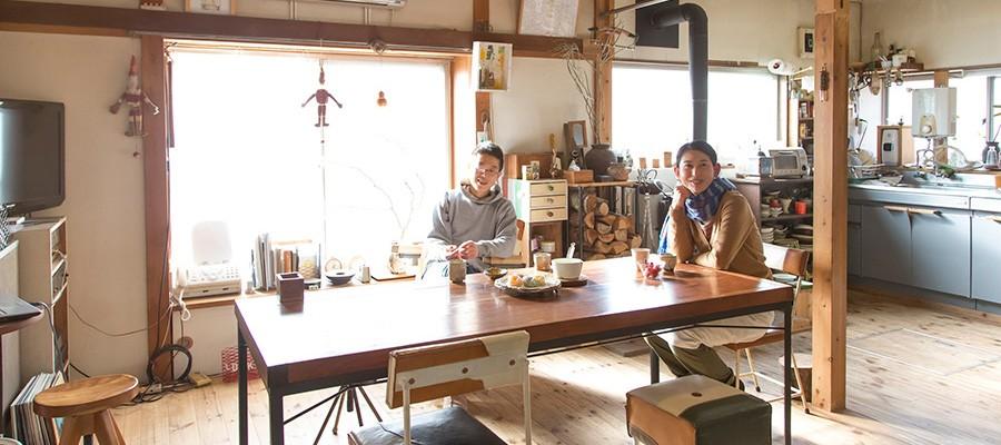 造形作家の住む家ほとんどの家具が手作り創作と暮らしが共にある住まい