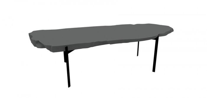 「Basalt」Fredrikson Stallardデザイン。ドリアデが提案する彫刻的家具の1例。火山岩の一種basalt(玄武岩)をイメージ。