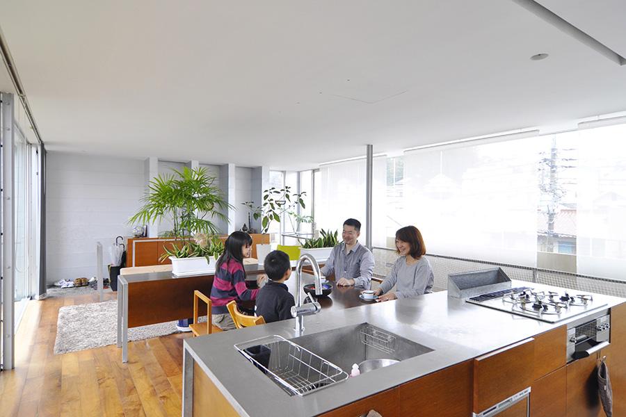 2階のLDKスペース。◎m<sup>2</sup>の開放感あふれる一室空間。