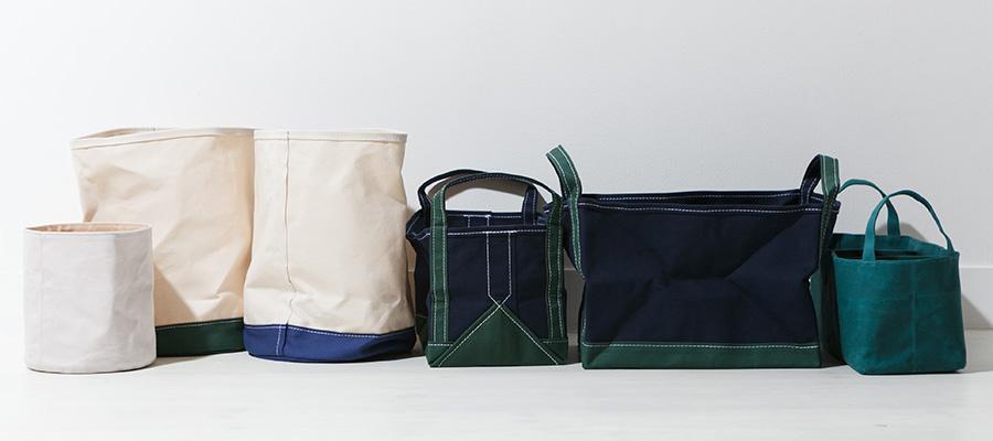 キャンバスアイテム −2− 無骨で丈夫な 帆布の日用品