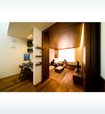 ヘーベルハウスの実例吹き抜け、ダウンフロア空間の変化を楽しむ住まい
