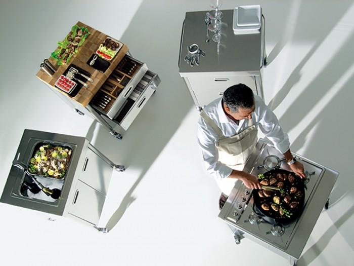 「Liberi in Cucina」セパレートシリーズ。配置も移動も自在。