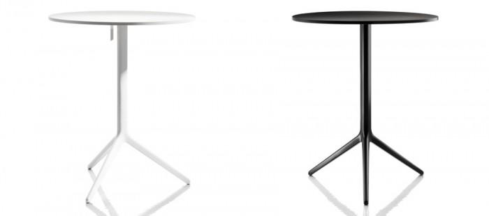 CENTRAL(ホワイト・ブラック) φ600 H720mm ともに¥85,000 RONAN&ERWAN BOUROULLEC/Magis Japan