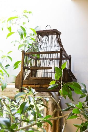 フランスの蚤の市などで購入する鳥かご。