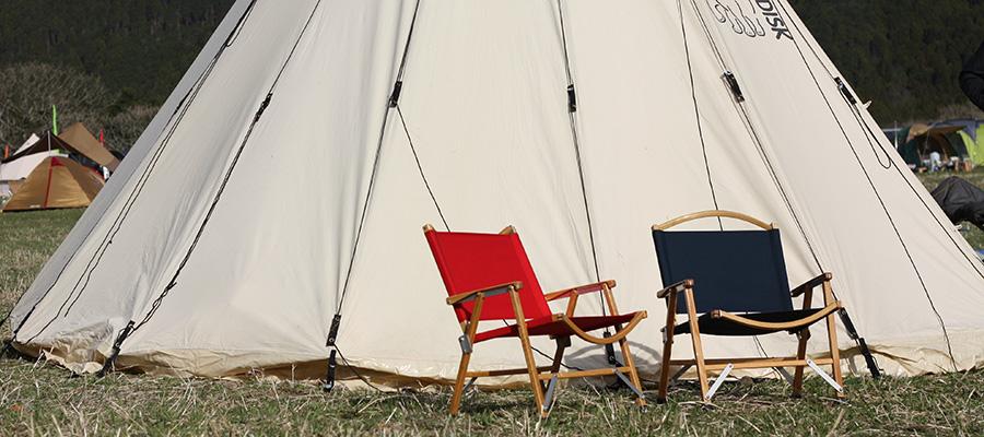 アウトドアファニチャー −2− キャンプやフェスに お洒落で堅牢なテーブル&チェア