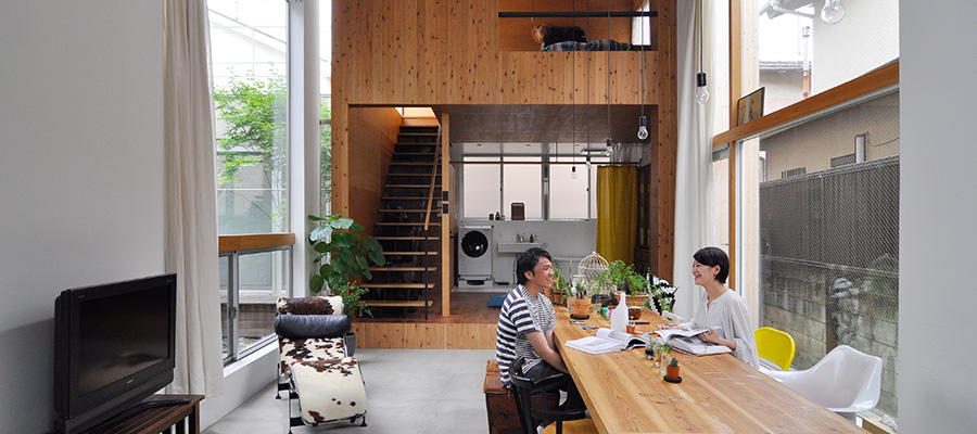 理想的な形で実現した3世帯住宅  空間の増減もカスタマイズも 可能な快適空間で暮らす
