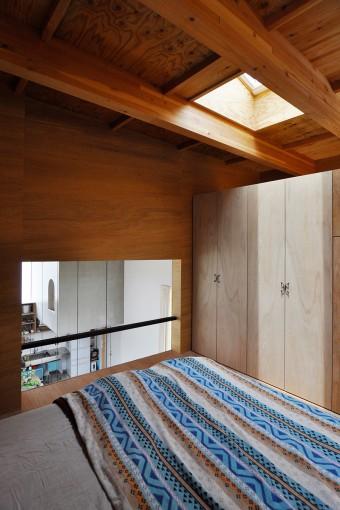 2階寝室にもトップライトが付けられている。