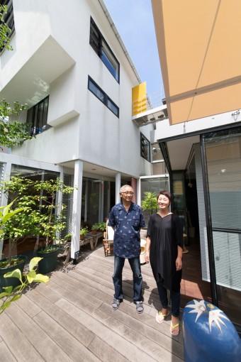 松原宅は二世帯住宅。1階がこの家を設計した建築家の松原忠策さんのお住まい。