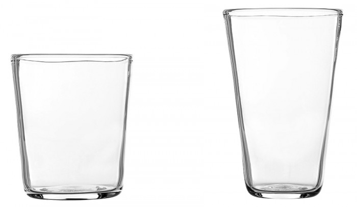 左からBELLMAN WATER GLASS φ80 H90mm ¥5,900 BELLMAN BEER GLASS φ74 H113mm ¥6,700 SKRUF/CIBONE Aoyama