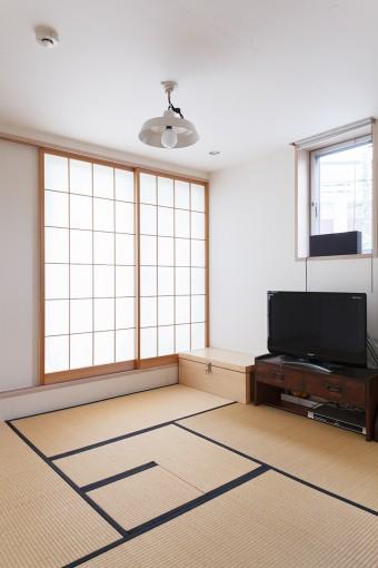 3階の和室は、他と異なるしっとりとした雰囲気。