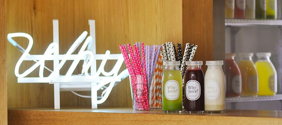 夏のフレッシュジュース1 why juice?のコールドプレストジュースで、 清新な涼をとる