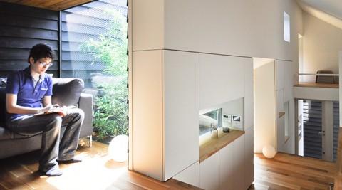 空間を無駄なく使い切れる家大胆なプランが特別な快適さをもたらす