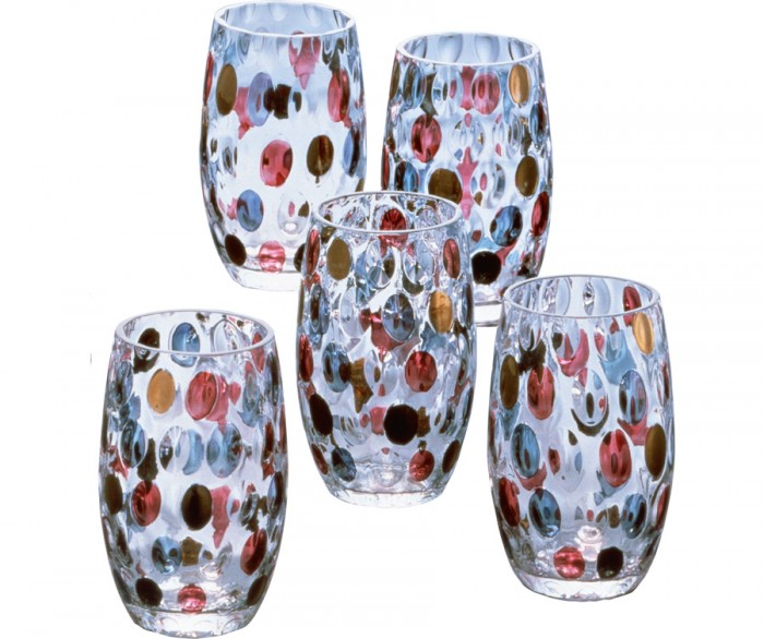 Water Drop φ55 H103mm 230ml 5客セット¥10,000 Laska Bohemia Glass/株式会社明和セールス