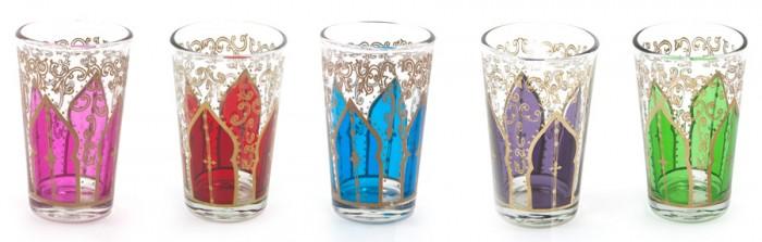 Mint-Tea Glass(ピンク・ボルドー・ターコイズ・パープル・グリーン) φ50 H85mm 各¥800 TODAY'S SPECIAL Jiyugaoka