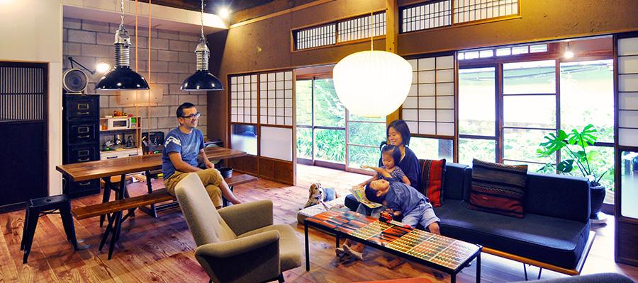 築54年の家をリノベーション  ミッドセンチュリーの家具が 似合う同世代の日本家屋