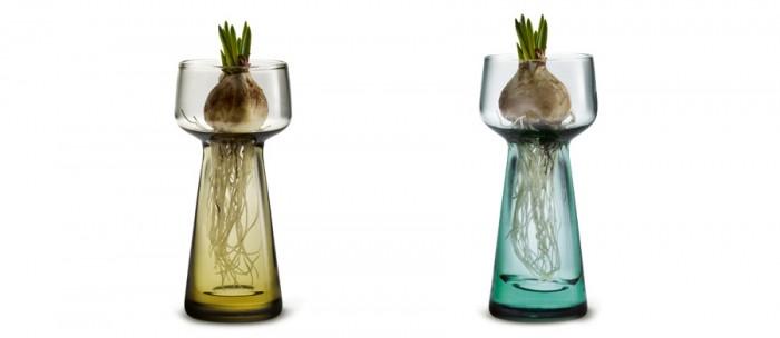 Celebrate pearl hyacinth glass(Bloom・Evergreen) φ45 H105mm 各¥3,000 HOLMEGAARD/Kuopio 暮らしの雑貨店