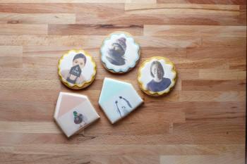 エディブル(可食)ジェットプリントのアイシングクッキーは、引き菓子にもおすすめ。(C)Kei Murata(&ima)