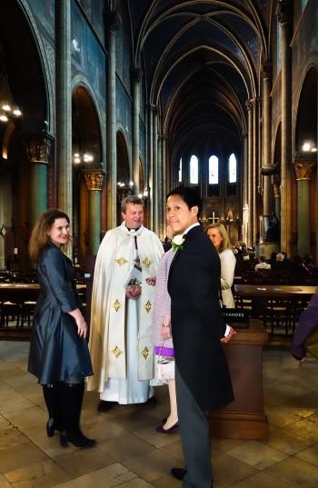 サン=ジェルマン=デ=プレ教会での結婚式の1シーン。