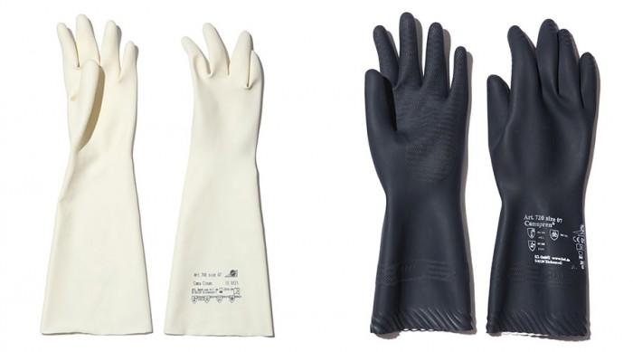 左からCama clean708-7(ホワイト)W95mm ¥1,200 Camapran720-7(ブラック) W95mm ¥1,400 ともにKCL/GENERAL VIEW